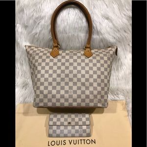 Louis Vuitton Damier Azur Saleya &Matching Wallet